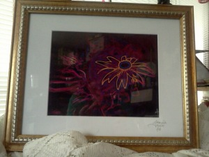 My artwork, in a really bad frame!