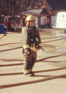 Joy Graves, in her firefighting gear.